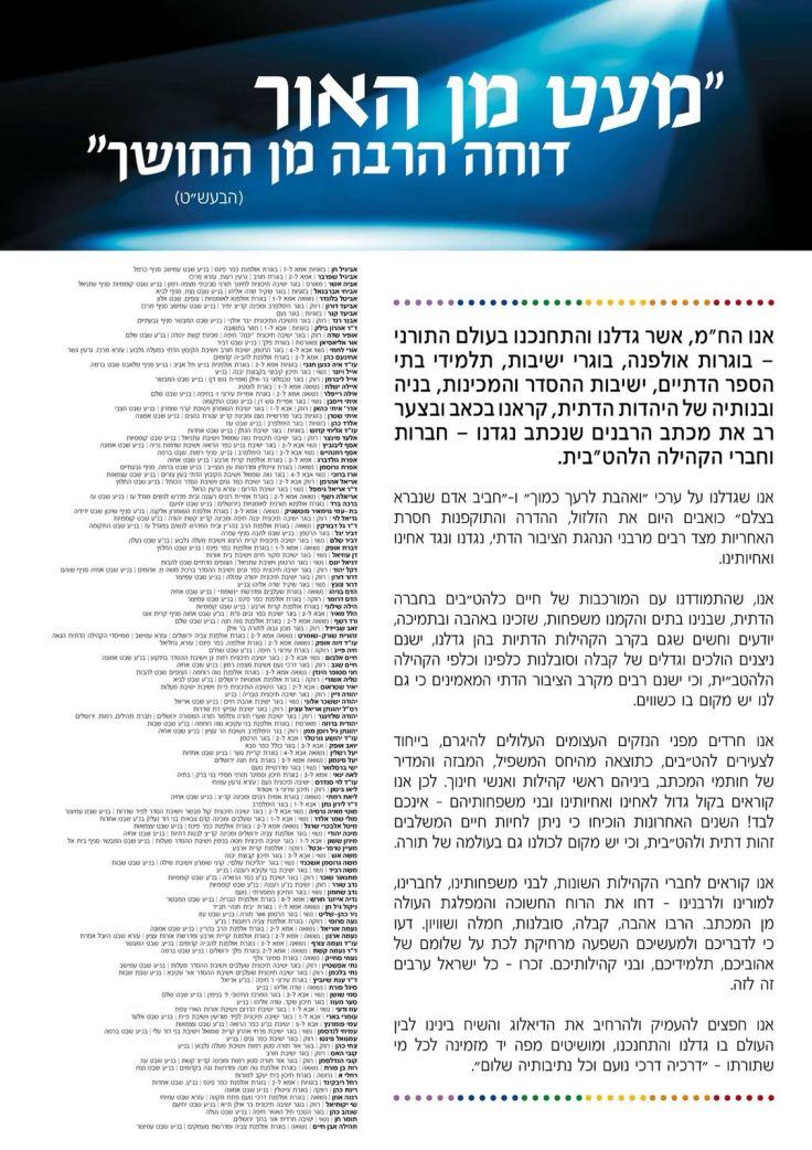 מכתב להטבים דתיים נגד מכתב הרבנים השמרנים